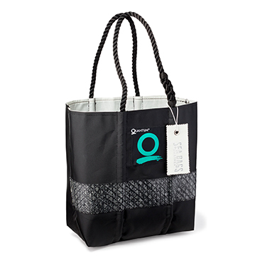 SeaBags Black Technical Sailcloth Tote