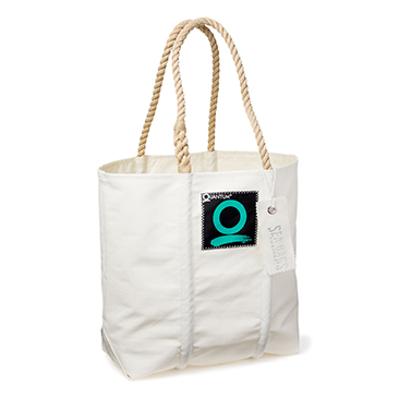 SeaBags White Sailcloth Tote
